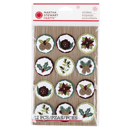 Martha Stewart Crafts - Woodland Collection - Christmas - Layered Stickers - Icon