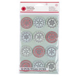 Martha Stewart Crafts - Snowflace Collection - Christmas - Layered Stickers - Circle