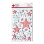 Martha Stewart Crafts - Snowflace Collection - Christmas - Layered Stickers - Large - Star