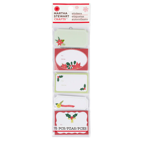 Martha Stewart Crafts - Woodland Collection - Christmas - Adhesive Label Pad