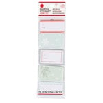 Martha Stewart Crafts - Snowflace Collection - Christmas - Adhesive Label Pad