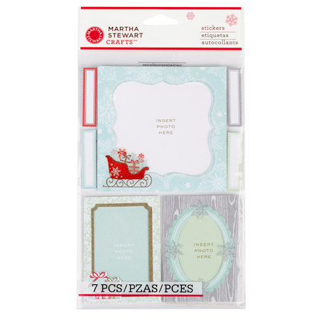 Martha Stewart Crafts - Snowflace Collection - Christmas - Layered Stickers - Frames