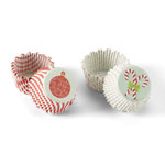 Martha Stewart Crafts - Cottage Christmas Collection -Mini Cupcake Treat Wrappers