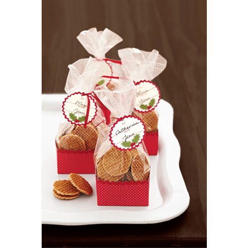 Martha Stewart Crafts - Cottage Christmas Collection - Cellophane Treat Bags and Baskets