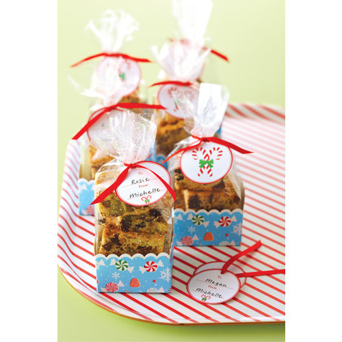 Martha Stewart Crafts - Wonderland Collection - Christmas - Cellophane Treat Bags and Baskets