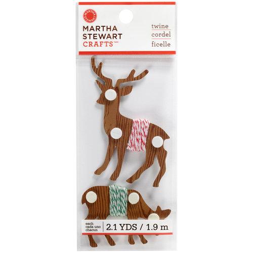 Martha Stewart Crafts - Wonderland Collection - Christmas - 3 Dimensional Stickers - Deer Twine Spool