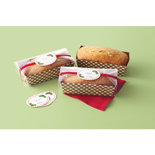 Martha Stewart Crafts - Cottage Christmas Collection - Loaf Tray and Cellophane Treat Bags