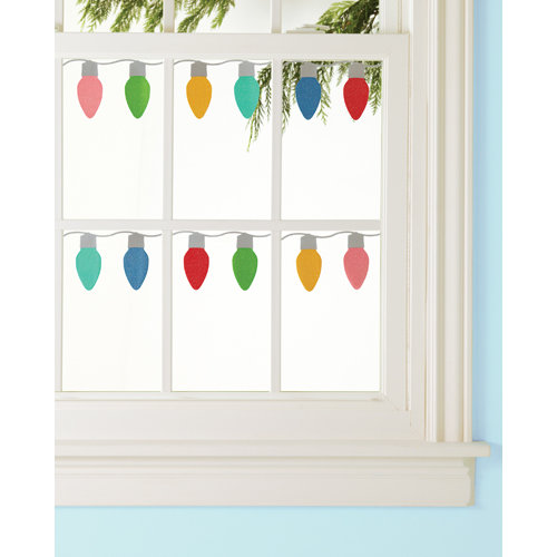 Martha Stewart Crafts - Wonderland Collection - Christmas - Window and Mirror Clings - Lights