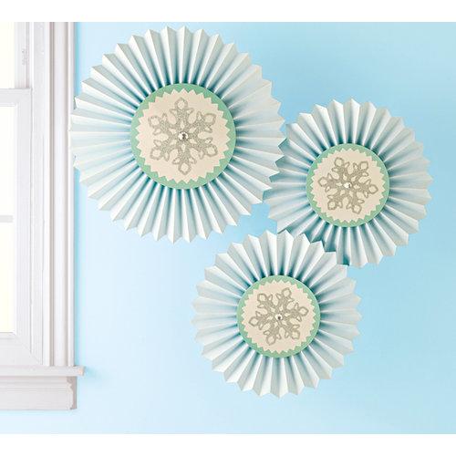 Martha Stewart Crafts - Wonderland Collection - Christmas - Hanging Rosettes - Snowflake