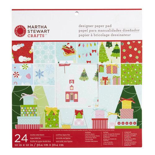 Martha Stewart Crafts - Wonderland Collection - Christmas - 12 x 12 Designer Paper Pad