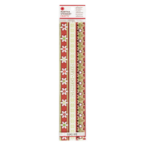 Martha Stewart Crafts - Cottage Christmas Collection - Layered Die Cut Adhesive Borders