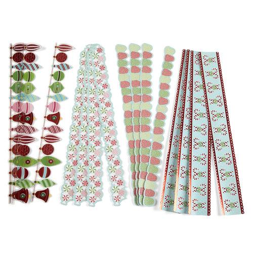 Martha Stewart Crafts - Wonderland Collection - Christmas - Die Cut Adhesive Borders