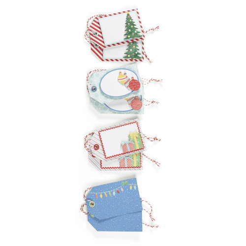 Martha Stewart Crafts - Wonderland Collection - Christmas - Premade Tags with Glitter Accents