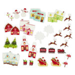Martha Stewart Crafts - Wonderland Collection - Christmas - Self Adhesive Die Cuts with Glitter Accents