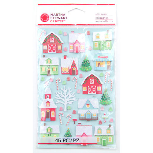 Martha Stewart Crafts - Wonderland Collection - Christmas - 3 Dimensional Stickers - House