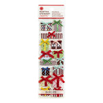 Martha Stewart Crafts - Wonderland Collection - Christmas - 3 Dimensional Stickers with Foil Accents - Gift