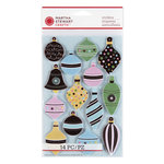 Martha Stewart Crafts - Wonderland Collection - Christmas - 3 Dimensional Stickers with Glitter and Foil Accents - Ornaments