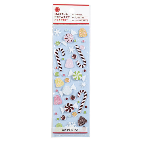 Martha Stewart Crafts - Wonderland Collection - Christmas - 3 Dimensional Stickers with Foil Accents - Candy
