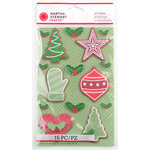 Martha Stewart Crafts - Cottage Christmas Collection - 3 Dimensional Stickers with Bead Accents - Cookie