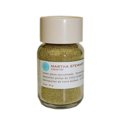 Martha Stewart Crafts - Luster Glass Microbeads - Florentine Gold, CLEARANCE