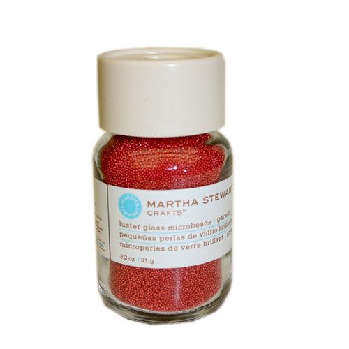 Martha Stewart Crafts - Luster Glass Microbeads - Garnet