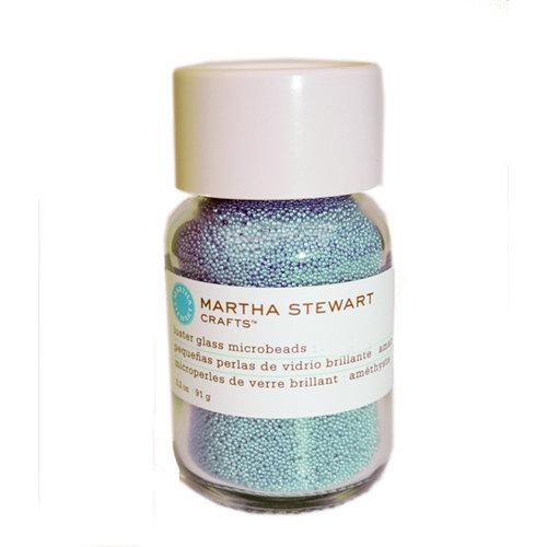 Martha Stewart Crafts - Luster Glass Microbeads - Blue Topaz
