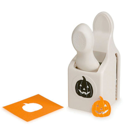 Martha Stewart Crafts - Halloween - Double Craft Punch - Medium - Embossed Jack O Lantern