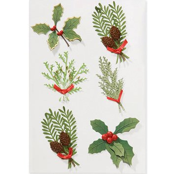 Martha Stewart Crafts - Holiday - 3 Dimensional Stickers - Branches