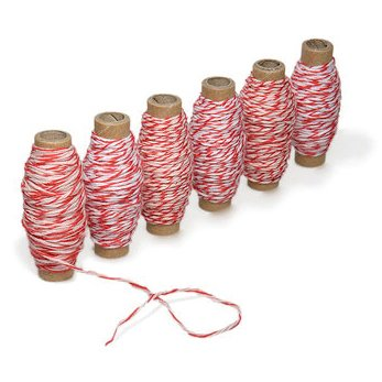 Martha Stewart Crafts - Holiday - Bakers Twine - Red and White, BRAND NEW