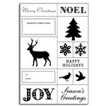 Martha Stewart Crafts - Holiday - Clear Acrylic Stamps - Gift Tag, CLEARANCE