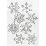 Martha Stewart Crafts - Holiday - Foil Stickers - Snowflakes, BRAND NEW