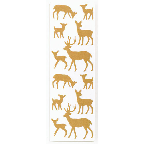 Martha Stewart Crafts - Holiday - Flocked Stickers - Deer, BRAND NEW