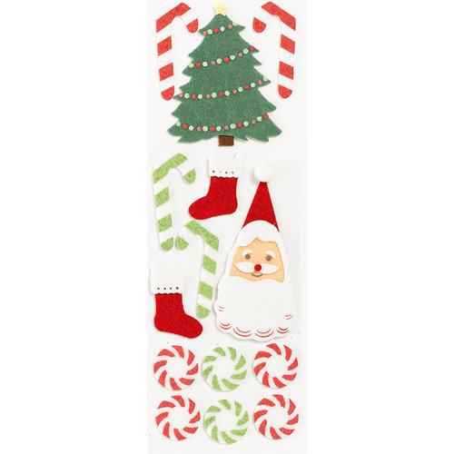 Martha Stewart Crafts - Holiday - Felt Stickers - Santa