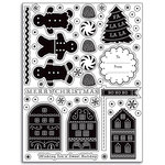 Martha Stewart Crafts - Holiday - Clear Acrylic Stamps - Frosty Gingerbread