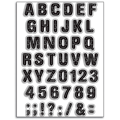 Martha Stewart Crafts - Holiday - Clear Acrylic Stamps - Cookie Alphabet