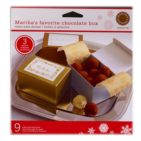 Martha Stewart Crafts - Holiday - Chocolate Box and Tissue Paper