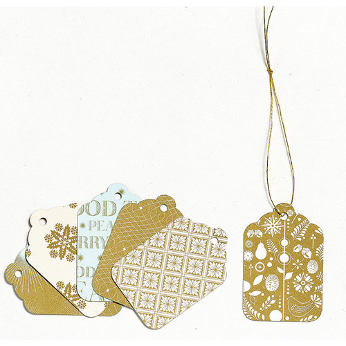 Martha Stewart Crafts - Holiday - Mini Tags - Golden Woodland, CLEARANCE
