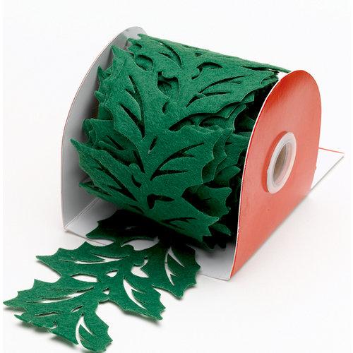 Martha Stewart Crafts - Holiday - Die Cut Felt Ribbon - Holly