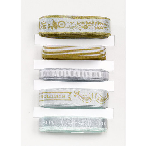 Martha Stewart Crafts - Holiday - Ribbon Pack - Golden Woodland