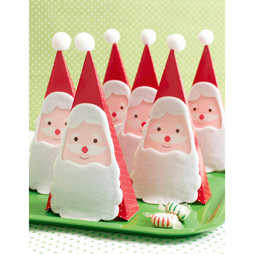 Martha Stewart Crafts - Holiday - Treat Boxes - Santa