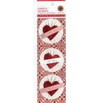 Martha Stewart Crafts - Valentine - 3 Dimensional Stickers - Rosette Hearts