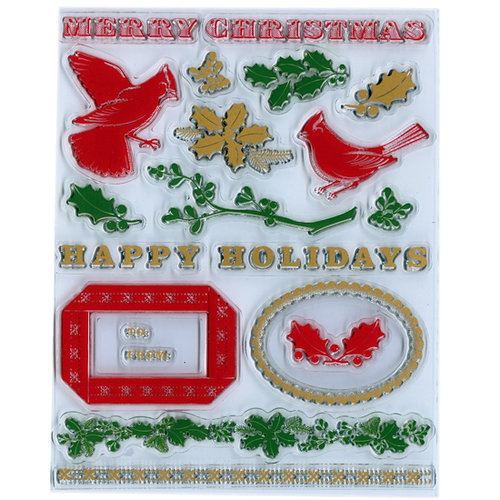 Martha Stewart Crafts - Holiday - Clear Acrylic Stamps - Traditional