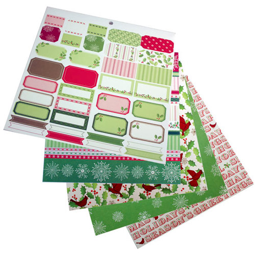 Martha Stewart Crafts - Holiday - 12 x 12 Multi-Media Paper Pad - Cardinal and Holly