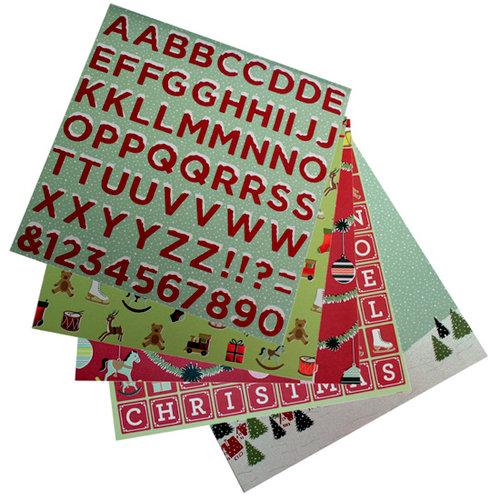 Martha Stewart Crafts - Holiday - 12 x 12 Multi-Media Paper Pad - Santa and Reindeer