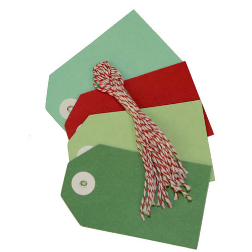 Martha Stewart Crafts - Holiday - Tags - Red and Green Craft