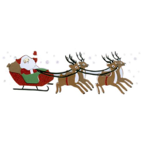 Martha Stewart Crafts - Holiday - Stickers - Vintage Santa Sleigh, BRAND NEW