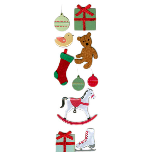 Martha Stewart Crafts - Holiday - Layered Stickers - Vintage Toy, CLEARANCE