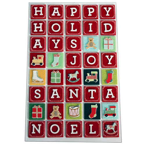 Martha Stewart Crafts - Holiday - Stickers - Alphabet Block Letters