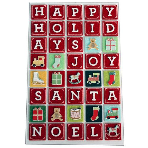 Martha Stewart Crafts - Holiday - Stickers - Alphabet Block Letters