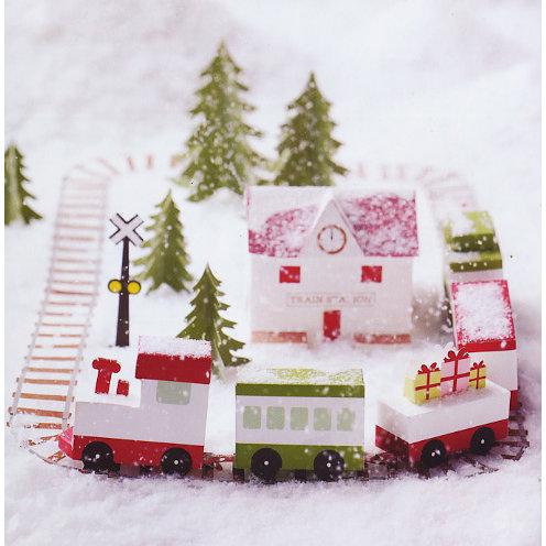 Martha Stewart Crafts - Holiday - Glittering Train Station